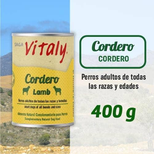 Lata de comida húmeda para perros de cordero de Vitaly