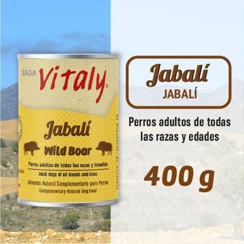 Lata de comida húmeda para perro de jabali de Vitaly