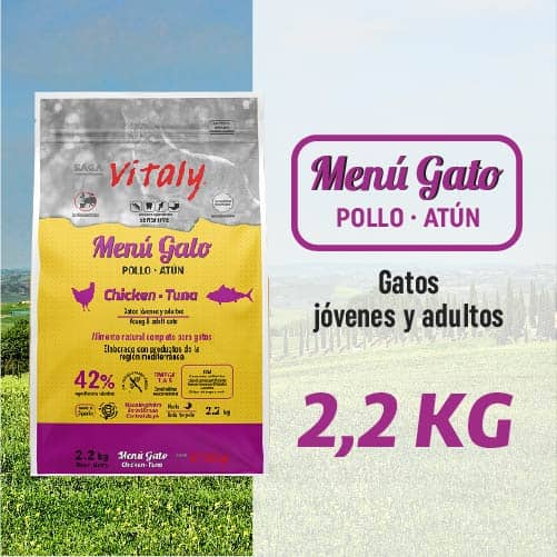 Saco de pienso para gatos de Vitaly 2 kg