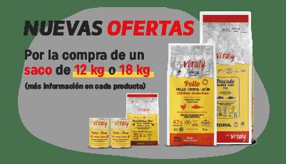 ofertas de vitaly por la compra de un saco de 12 kg o 18 kg