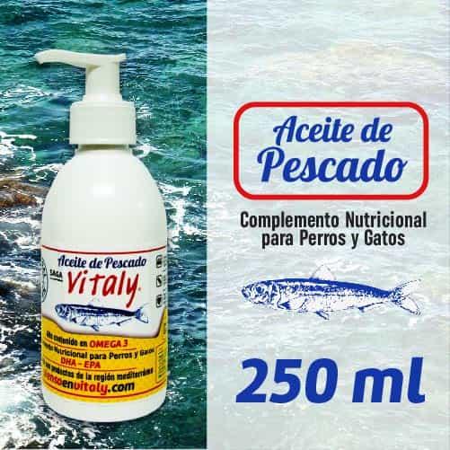 Botella de suplemento alimenticio para perros y gatos de Vitaly de 250 ml