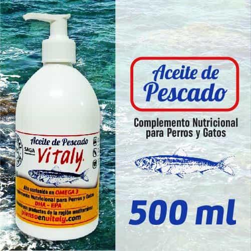 Botella de suplemento alimenticio para perros y gatos de Vitaly de 500 ml